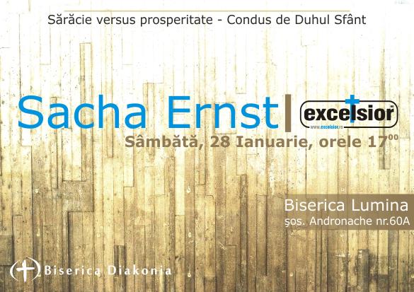 Conferinta cu Sacha Ernst la Bucuresti